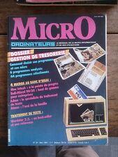 MICRO ORDINATEURS N° 20 le mensuel de la micro-informatique et de ses u