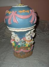 Estate Music Box Easter Bunnies Hot Air Balloon Easter Parade