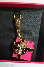 New! NIB! JUICY COUTURE Boxed Pink Enamel Pave Gift Present Charm YJRUSC45 $58