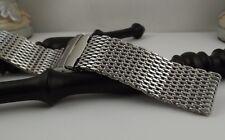 bracciale orologio Mesh Shark Acciaio Maglia Milano ansa 22 mm deployante