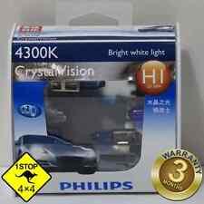 A Pair of Genuine Philips H1 12V 4300K 55W Crystal Vision Bulbs