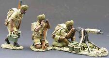 KING & COUNTRY BRITISH 8TH ARMY EA014 INDIAN ARMY MACHINE GUN SET MIB