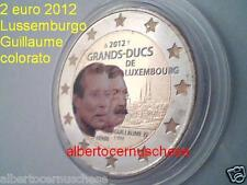 2 euro 2012 Lussemburgo fdc smaltato colorato Luxembourg Letzebuerg Luxemburg