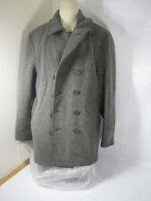 Mens Jordan Craig Collection Outerwear Long Pea Coat Gray Size XL Wool Blend