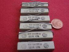 RARO! alta carico resistenza 120 Ohm 9w cemento assiale 9x10x38mm 6x 24893