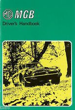 MG MGB Tourer and GT Drivers Handbook rubber bumper 1976 NEW