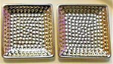 Decorative Tray For Candle Trinket Nick-Nack Coaster Shiny Gold Color Lot Of 2