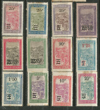 Madagascar Scott #135-146 ( ) Mh-Mng 1922-27