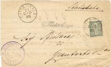 P8362  Padova, S.Pietro Engu (ora in Gu), annullo lineare corsivo, 1885