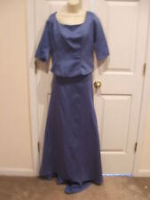nwt lizette periwinkle 2 pc. formal gown size 12