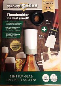 Taste Hero Flaschenaufsatz für Glas und PET Bier-Aufbereiter für Bierflaschen
