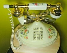 Vintage 1973 American Telecommunications Victorian style floral land telephone