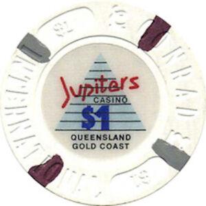 Jupiters Casino $1.00 Casino Chip - Gold Coast Brisbane Queensland Australia #2