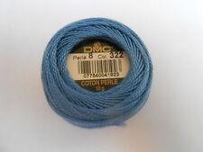 DMC Perle 8 Cotton Ball Blue Colour Number 322
