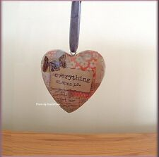 EVERYTHING SHAPES US BOXED HEART ORNAMENT BY KELLY RAE ROBERTS FREE U.S. SHIP
