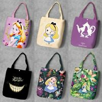 Alice in Wonderland  tote shopping bag handbag storage bags shoulder bag new