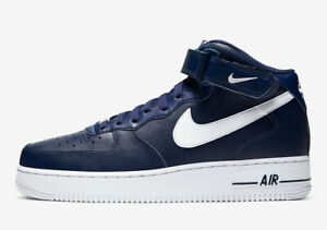 Nike Air Force 1 Mid 07 Trainers CK4370 400 Navy/White Size UK 6.5_11.5_13_14