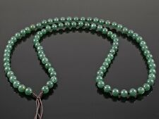 "Natural Burmese Green Jadeite Jade 6mm Stone Bead Necklace for Pendants 26"""