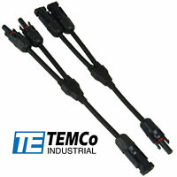 TEMCo Y Branch Solar Panel 40A Cable Connector 10 AWG PV Wire T Splitter