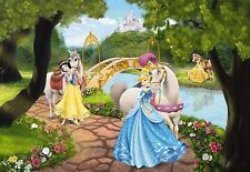 Mural de Pared Foto Wallpaper Princesa Real Gala Disney Habitación Niños Decoración Infantil