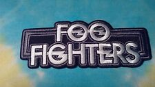 Foo Fighters Black & White Logo 2 x 5 Inch Iron On Patch