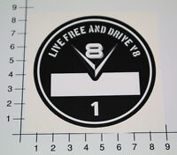 FEINSTAUBPLAKETTE V8 Diesel Aufkleber Sticker Umweltplakette Live Free NOS-0002