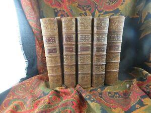 livre ancien 5 volumes religieux explication du livre de la genese 1732