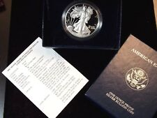 """2002 """"W"""" Proof American Silver Eagle 1 oz BOX & COA  ECC&C, Inc."""