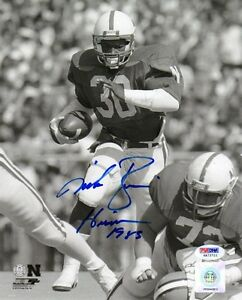 MIKE ROZIER SIGNED AUTOGRAPHED 8x10 PHOTO + HEISMAN 1985 NEBRASKA ITP PSA/DNA