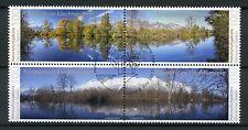 Liechtenstein 2017 CTO Nature Reserves Gampriner Seelein 4v Block Trees Stamps