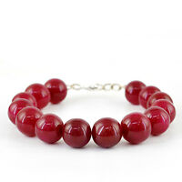 343.50 CTS EARTH MINED ROUND SHAPED RICH RED RUBY BEADS BRACELET - BIG DEAL