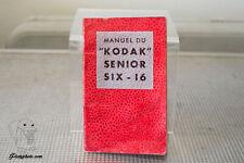 KODAK SENIOR SIX-16 MODE D'EMPLOI INSTRUCTION MANUAL