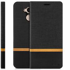 Zanasta Schutz hülle für Huawei P9 Cover Handy Tasche Flip Case schale schwarz