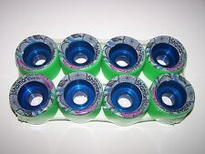 "NEW GREEN HYPER SHAMAN 62MMX44MM ""SOFT"" ROLLER SKATE QUAD SPEED WHEELS"