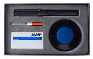 Lamy AL-Star Fountain Pen in Black with Ink Bottle Gift Set - Limited Edition