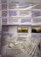 THE CIVIL WAR 1861 1862 1863 1864 & 1865 US #4522-23, 4664-65, 4787-88 & 4910-11