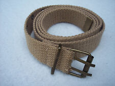 Womens Canvas Belt Brown 38 Inch Medium Width Grommet Holes Two Prong Buckle