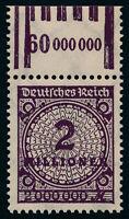 DR 1923, 315 A W b OR, tadellos postfrisch, Befund Weinbuch, Mi. 240,-