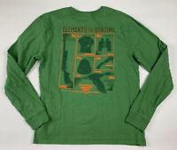 Columbia PHG Long Sleeve Tee L Elements of Hunting Print Crew Neck Green