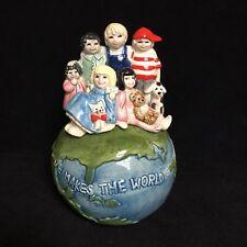 Otagiri Music Box Globe Children Love Makes The World Go Round Shirley Delph