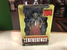 "2010 Mezco Cinema of Fear Texas Chainsaw Massacre LEATHERFACE 12"" 1/6 Figure MIB"