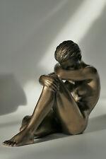 frau,akt,bronziert,13x10x6,5cm,figur,erotik,statue,frauenakt,polyresin,hockend