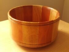 VINTAGE TWO TONE WOODEN BOWL.