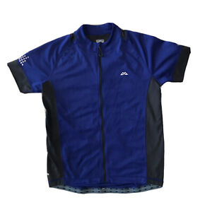 Kathmandu Mens Cycling Shirt Size M Top Blue driMotion Hiking Active Zip Pockets