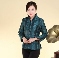 Fashion Chinese Women's silk/satin embroidery jacket Coat Sz: M L XL 2XL 3XL