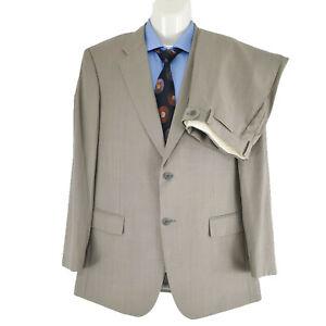 Durban Hong Kong Men's 2 PC Suit Plain Grey Super 120 Wool Sz AU 38R EU 48 SU07