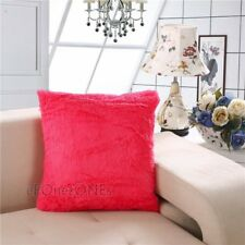 Luxury Fur Fluffy Sofa Cushion Cover Decorative Trendy Soft Pillow Case 17x17""