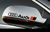 2x Audi Side Mirror Rear View Decals stickers A1 A3 A4 A5 A6 A7 A8 TT RS Q5 Blk