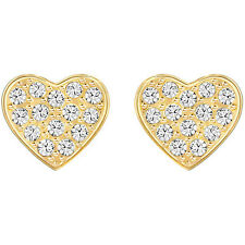 Swarovski Orecchini originali Cuore Gold Cupid 5274222 Gioielli acciaio
