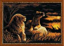 """Counted Cross Stitch Kit RIOLIS - """"Lions in the Savannah"""""""